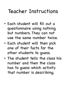 Me Math!: Activity for the first day of school!