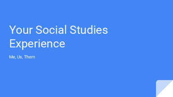 Me, Us, Them- Your New York State Social Studies Experience K-12