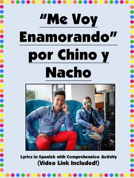 Me Voy Enamorando Spanish Song Activity with Comprehension