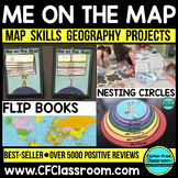 Me on the Map Flip Book | Map Skills | Maps and Globes |Ma