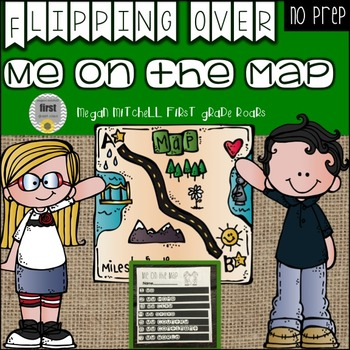 Me on the Map Flip Book: No Prep