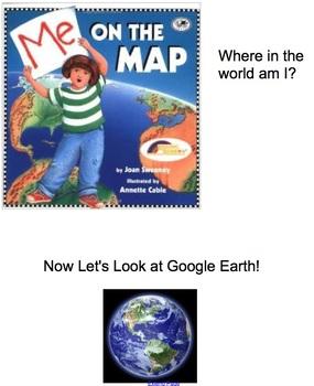Me on the Map, Map Skills and Main Idea Smartboard Unit