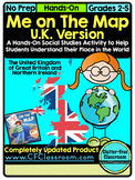 Me on the Map, UNITED KINGDOM - A Social Studies & Languag
