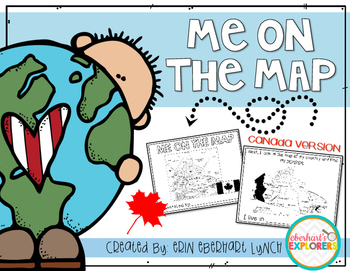 Me on the Map mini book: Canada