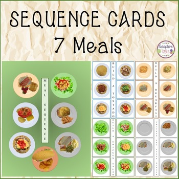Meal Sequencing Task Cards