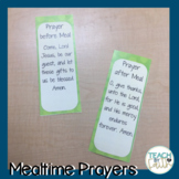 Mealtime Prayers Mini-Posters - Dots on Turquoise