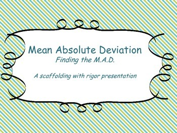 Mean Absolute Deviation:A Step by Step Presentation with P