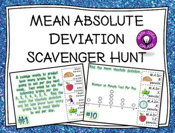 Mean Absolute Deviation Scavenger Hunt Activity