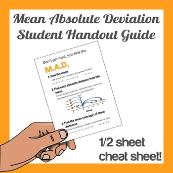 Mean Absolute Deviation Half Sheet Guide for Students