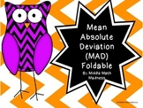 Mean Absolute Deviation (MAD) Foldable
