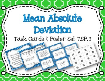 Mean Absolute Deviation Task Cards and Poster Set