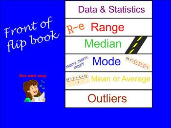 Mean, Median, Mode, Range Flipbook Smartboard Lesson
