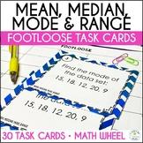 Mean, Median, Mode, Range Task Cards - Footloose Activity