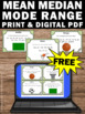 FREE Mean Median Mode Range Task Cards 5th 6th Grade Math