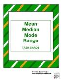 Mean-Median-Mode-Range Task Cards St Patty theme