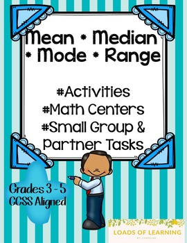 Mean, Median, Mode, and Range - Activities Using Dice, Car