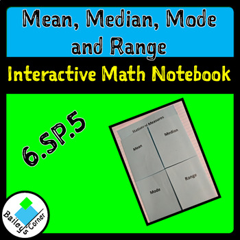 Mean, Median, Mode and Range Foldable for Interactive Math