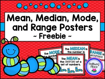 Mean Median Mode and Range Posters {Free}