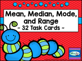 Mean Median Mode and Range 32 Task Card Set - Statistics