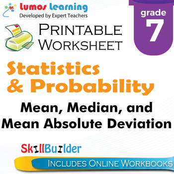 Mean, Median, and Mean Absolute Deviation Printable Worksh