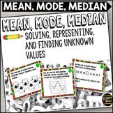 Mean, Mode, Median Task Cards