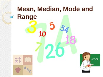 Mean,Median, Mode and Range = Fun