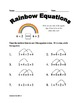 Meaning of the Equal Sign for First Grade (Higher Numbers)