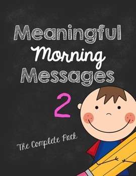 Meaningful Morning Messages-Packet 2