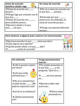 Meaningful Sentence Stems for Table Bins in Spanish