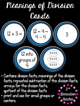 Meanings of Division Sort and Game Cards