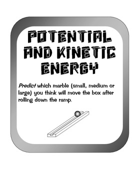 Measure Potential and Kinetic Energy Experiment Activity w