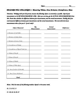 Measure This Challenge #3 - Perimeter, Area, Volume(solids