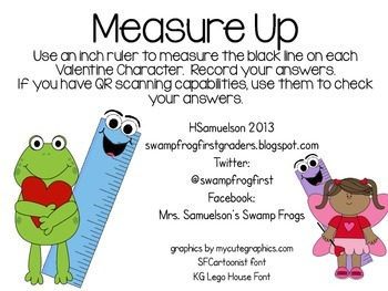 Measure Up with Valentine Characters