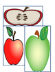 Measure the Apple-length and width measuring in Kindergarten