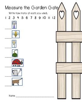 Measure the Garden Gate (nonstandard measurement) plants, insects