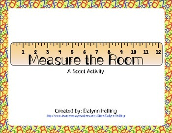 Measure the Room Scoot Freebie