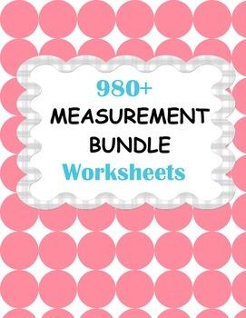 Measurement Worksheets Bundle