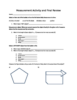 Measurement Activity with Sig Figs