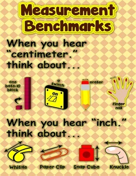 Measurement Benchmarks = Poster/Anchor Chart with Cards fo