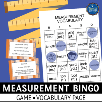 Measurement Vocabulary Bingo