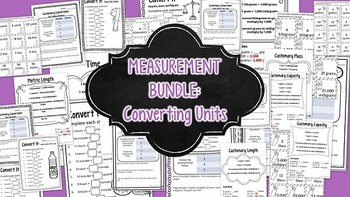 Measurement Bundle: Converting Customary and Metric Units