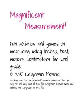 Measurement Centers and Activities