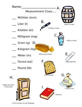 Measurement Clues