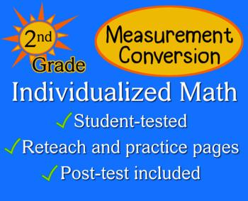 Measurement Conversion, 2nd grade - Individualized Math -
