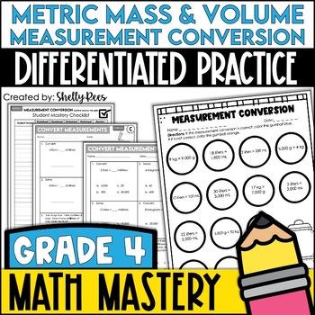 Converting Measurement -Metric Mass & Volume