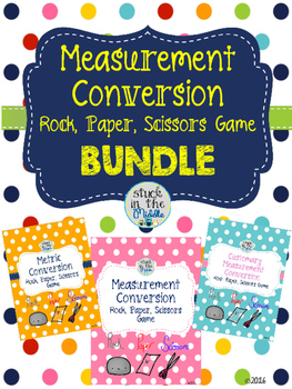 Measurement Conversion Rock, Paper, Scissors Game Bundle