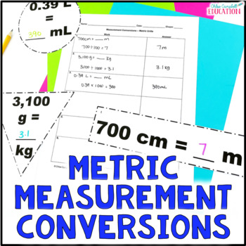 Measurement Conversions, Metric Units Differentiated Aroun