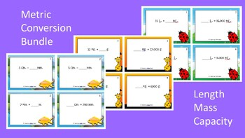 Measurement Conversions Scoot Activities/Task Card Bundle
