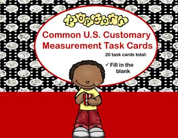 Measurement Conversions Task Cards - US Customary (Popcorn)