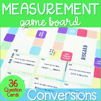 Measurement Conversions Task Cards with Game Board ~CCSS 4